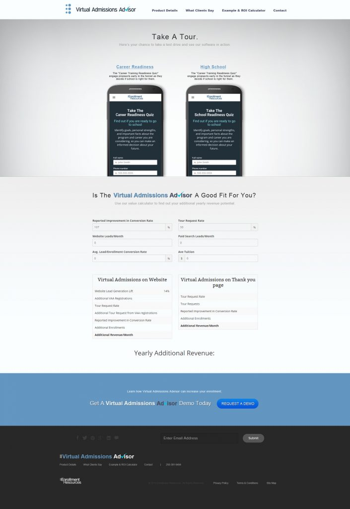 custom wordpress website design development admissions software UI/UX